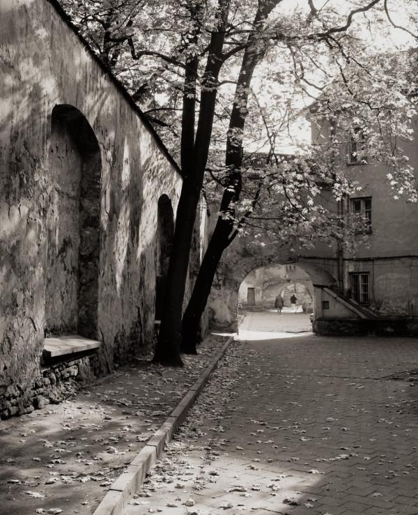 Arūnas Baltėnas / Vilnius. Karmelitų kiemas / 1998 / Autorinis sidabro bromido atspaudas / 29 x 20,7