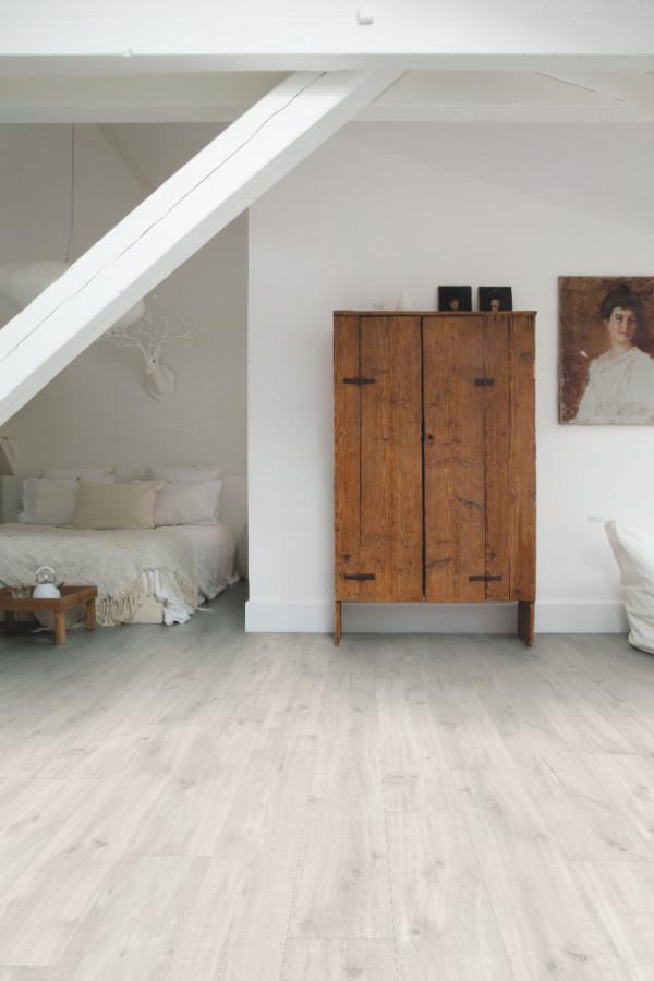 Vinilinės grindys Quick-Step, Canyon ąžuolas šviesus su pjūklo pjūviu, BACL40128_1