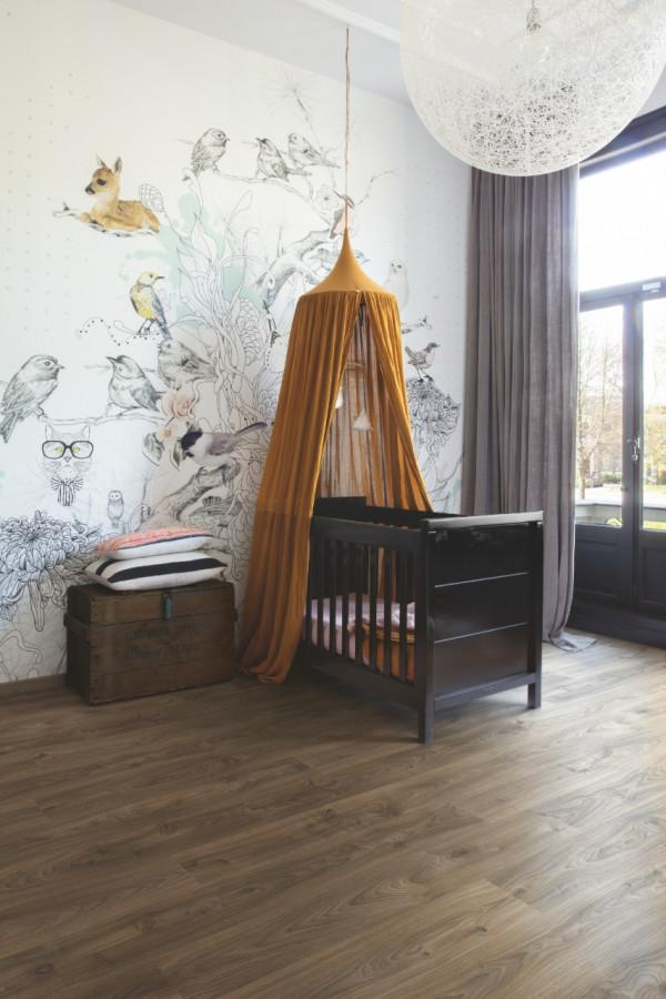 Vinilinės grindys Quick-Step, Cottage ąžuolas tamsiai rudas, BACP40027_1