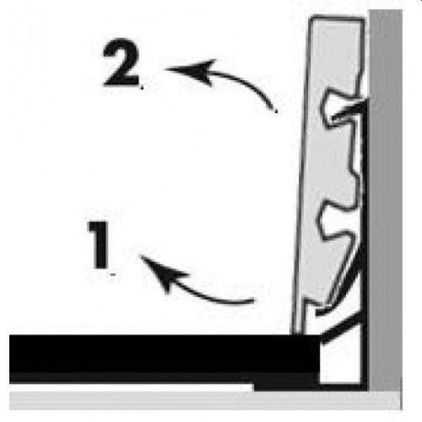 Metalinė tvirtinimo detalė grindjuostei QSSK(-) 58x12, QSCLIPSKME95