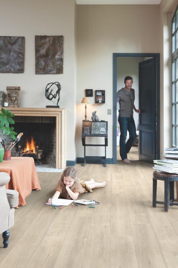 Laminuotos grindys Quick-Step, Ąžuolas su pjūklo pjūviais smėlinis, IMU1857_1