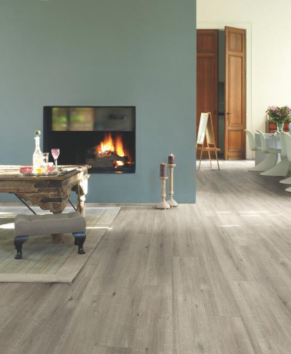Laminuotos grindys Quick-Step Ąžuolas su pjūklo pjūviais pilkas, IMU1858_1