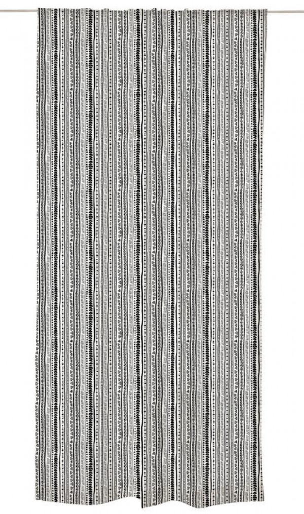 Užuolaida Vallila balta/juoda 140x250 cm, Kerttu kolekcija