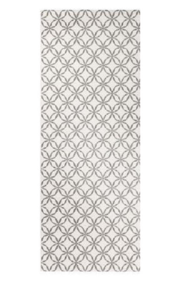 Kilimas Vallila Klarinetti white grey 80x250 cm