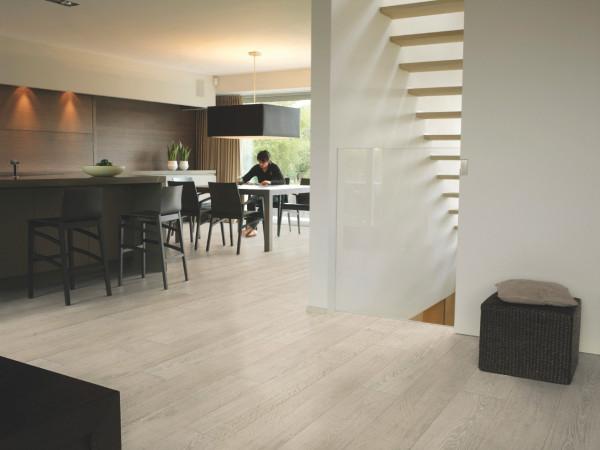 Laminuotos grindys Quick-Step, šviesios ąžuolinės lentos Rustic, LPU1396_1