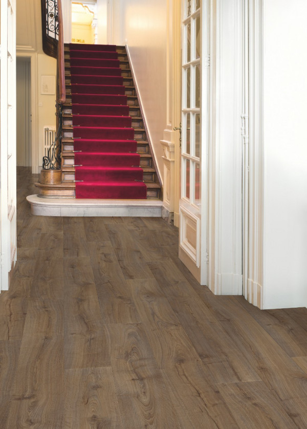 Laminuotos grindys Quick-Step, tamsaus ąžuolo lentos Cambridge, LPU1664_1