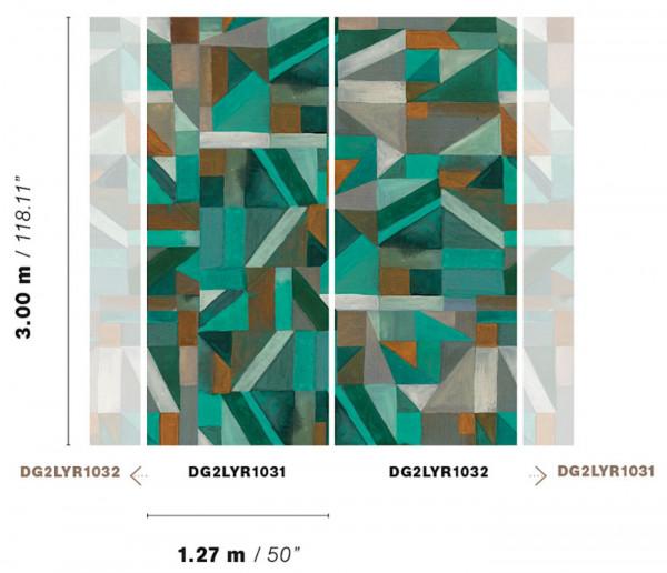 Tapetai DG2LYR1031-DG2LYR1032 Wall designs II, Masureel