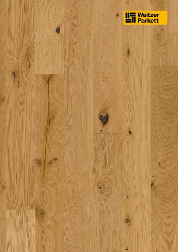 Parketlentės Weitzer parkett, natūralus ąžuolas, rustic, alyva, 50059, 2245x193x14mm, 1 juostos, Charisma plank kolekcija