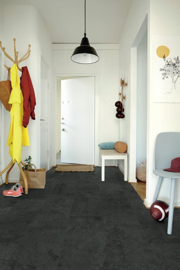 Vinilinės grindys Pergo, Scivaro juoda plytelė, V3218-40035_1